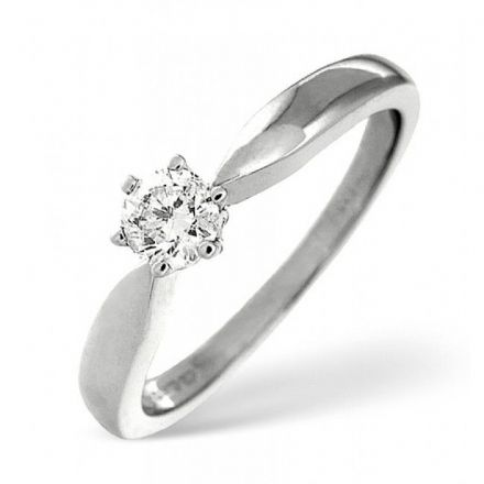Platinum 0.50ct Six Claw Solitaire H SI Diamond Engagement Ring , P6ER0260